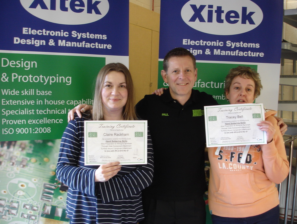 Tracey and Claire receive their IPC Certification